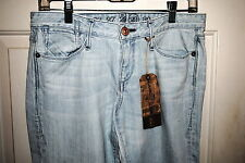 EARNEST SEWN HARLAN276 BLUE SKY WOMENS DISTRESS BLUE JEANS 2 SIZES RP 190.00 NWT