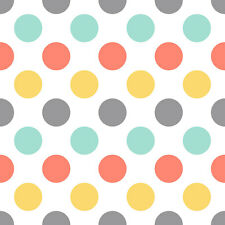 Retro Polka Dot Fabric Printed by Spoonflower BTY