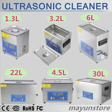 Stainless Steel 1.3~30Liter Industry Heat Ultrasonic Cleaner Heater w/Timer lot