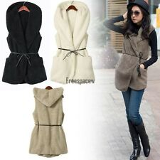Hot Korea Women Royal Warmer Double Warm Casual Hoodie Vest Coat 5 Colors FPAW01