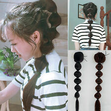 Lady Black Brown Hair Extension Braids Crochet Ponytail Drawstring Hairpiece