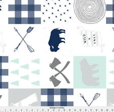 Buffalo Cheater Quilt Fabric Printed by Spoonflower BTY