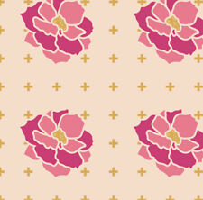 Blush Flower Blossom Fabric Printed by Spoonflower BTY