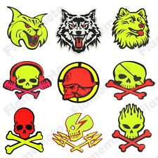 Motorcycle Motocross ATV Racing Bike Skull Cross Helmet Gas Tank Sticker Decals