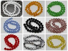 40 Pcs 8mm Faceted Bicone Beads Crystal Glass Beads Color for Choice