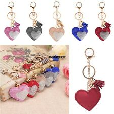 New Women Sweet Key Ring Heart Resin Rhinestone Patchwork Key Chain Decor VGY02