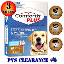 Comfortis Plus Brown 3 for Very Large Dogs 27.1 - 54 kg - 3 Pack Heartworm Fleas