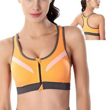 UK Women Comfort Seamless Bra Padded Sports Bra Tank Top Yoga Vest Racerback