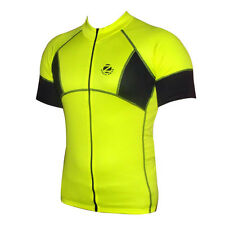 Zimco Cycling Bike Cycle Short Sleeve Jersey/Shirt Biking Yellow/Black 1057
