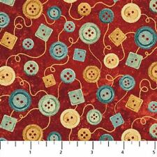 A Stitch in Time - Northcott Fabrics - Buttons Red - 39358-24