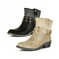 Ladies western style cowboy boots with eyelet detail and silver pattern