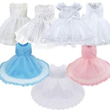 Newborn Baby Gown Infant Girl's Flower Princess Party Baptism Dress Toddler Baby