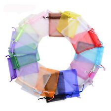 25pc Organza Gift Bags Jewellery Pouches Packing XMAS Wedding Party Candy Favour