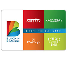 Bloomin' Brands Gift Card - $25 $50 or $100 - Fast Email delivery