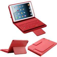 Bluetooth Wireless Keyboard (detachable) Stand Leather Case Cover for iPad mini