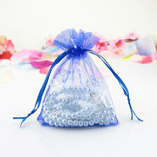 50 100Pcs 9x12cm Wedding Favor Gift Butterfly Organza Bags Jewelry Candy Pouch