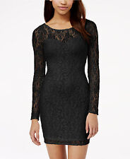 Ladies Juniors Material Girl Lace Illusion Bodycon Dress Blk Sm, Med, Lg, XL NWT