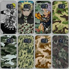 Camouflage Colors Japanese Anime Naruto Style Hard Case For iPhone Samsung Sony