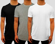 NEW 24 PACK MENS PLAIN CREW NECK T SHIRT EURO FIT S - 3XL CASUAL GYM WORK SPORT