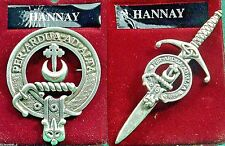 Hannay Scottish Clan Crest Badge or Kilt Pin Ships free in US