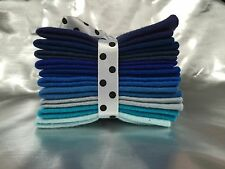 Mix Felt Craft Pack Blue Colours 10 Squares Per Pack with 5 different sizes