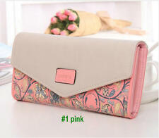 women Clutch PU card holder purse handbag envelope bag Wallet notecase zip burse
