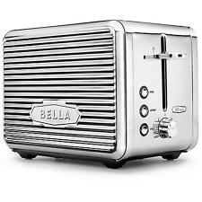 Bella Linea Collection 2 Slice Toaster Green Red Pink White Grey Chrome Electric
