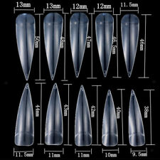 White Natural Clear False Point Nail Art Tips for Acrylic UV Manicure 500pcs
