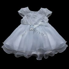 White Communion Party Prom Princess Pageant Bridesmaid Wedding Flower Girl Dress
