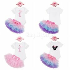 Newborn Infant Baby Girl Floral Romper Bodysuit Jumpsuit Outfits Skirt Sunsuit