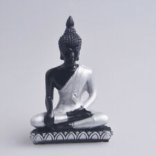 The Hue Resin Meditation Buddha Statue Sculpture Hand-painted Figurine Art Decor