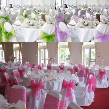 1/25/50/100PCS Wedding Organza Chair Sashes Bows Cover Banquet Party Decorations
