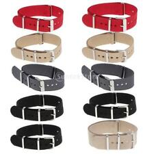 18mm 20mm 22mm Nylon Wrist Watch Band Strap Watch Stainless Steel Buckle