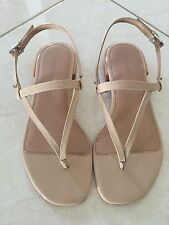 BNWT Ladies TRENERY Country Road Nude Patent Leather Sandals $99.95