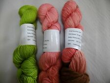 Hand Dyed Baby Alpaca/ Wool/ Silk Yarn 252 yd Worsted