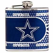 Stainless Steel 6 oz. Flask with Metallic Graphics Dallas Cowboys - 44503