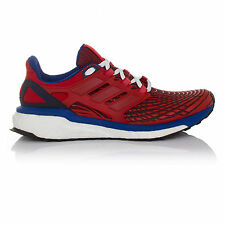 Adidas Energy Boost Mens Red Blue Cushioned Running Shoes Trainers Sneakers