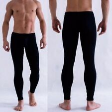 Sexy Mens Low Rise Modal Tight Long Johns Thermal Underwear Solid Pants Leggings