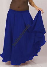 Royal Blue - 2 Layer Reversible Skirts Belly Dance Gypsy 9 Yd Fulll Circle Jupe