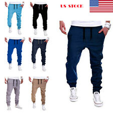 Mens Baggy Loose Long Harem Pants Sportwear Slacks Trousers  Sweatpants Joggers