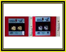 Harley Davidson Post Earrings(Eagle is Soaring) Gold or Silver-H118G/S-PE