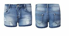 Ladies Shorts Distressed Ripped Denim Womens Hotpants Vintage Jeans Pants