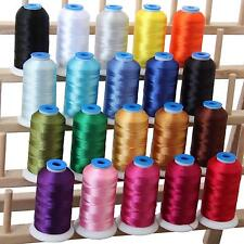 Threadart 20 Cone Set Polyester Embroidery Thread 1000m Spools, 11 Different...
