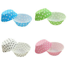 100/200PCS Colorful Cupcake Liners Muffin Case Cake Paper Baking Cups Polka Dots