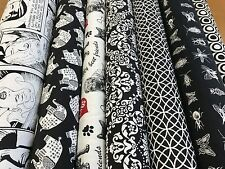 NEW  Designer Black & White Tapestry Quality Upholstery Curtain Fabric Geometric