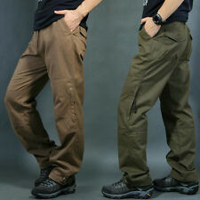 Mens Slacks Casual Cargo Straight Leg pants Military Outdoor Combat Trousers new