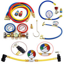 Various Car Auto Air Conditioning R134A Refrigerant Recharge Hose Pipe Gauge Kit