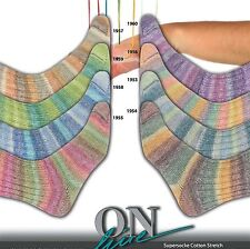 ONline Supersocke Cotton Stretch Color 210 Yarn 100g Wool Sock 8 Color Choices