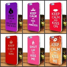 Keep Calm And Kiss Me, release the kis transparent iPhone and samsung cover case