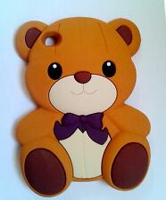 Ipod touch4 4th Gen 3D Cute Teddy Bear  Animal Silicon Rubber Phone Case Cover